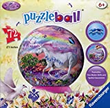 Ravensburger 12129 - Einhorn (engl.) - 72 Teile Puzzleball für Kinder
