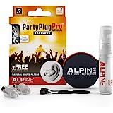 Alpine PartyPlug Pro Gehörschutz Ohrstöpsel mit linearer Dämpfung für Party, Musik, festival, Disco und Konzerte – Naturgetre