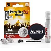 Alpine PartyPlug Pro Gehörschutz Ohrstöpsel mit linearer Dämpfung für Party, Musik, festival, Disco und Konzerte…