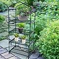 Asixx Abdeckhaube für Foliengewächshaus, Mini Platzsparend Outdoor-Gewächshaus, 69 x 49 x 160cm - 4 Etagen für Balkon, grün von Asixx auf Du und dein Garten