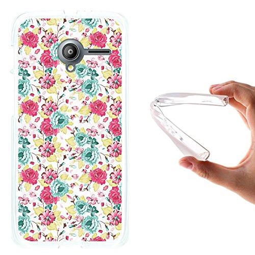 WoowCase Vodafone Smart Speed 6 Hülle, Handyhülle Silikon für [ Vodafone Smart Speed 6 ] Multifarbige Blumen Handytasche Handy Cover Case Schutzhülle Flexible TPU - Transparent