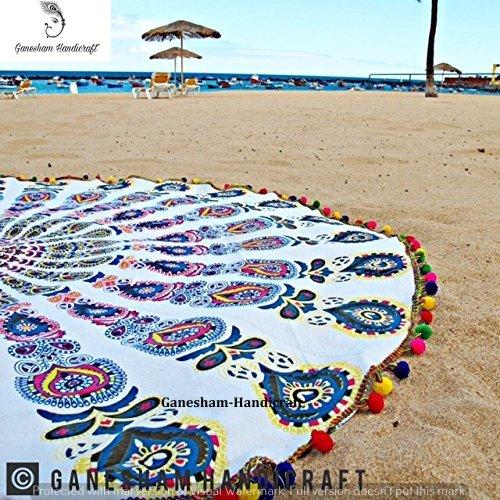 indischen Mandala Boho Bohemian Gypsy Indian Decor Home Decor Yogamatte rund Tapisserie Beach Roundie Beach Überwurf rund Strandtuch Baumwolle...