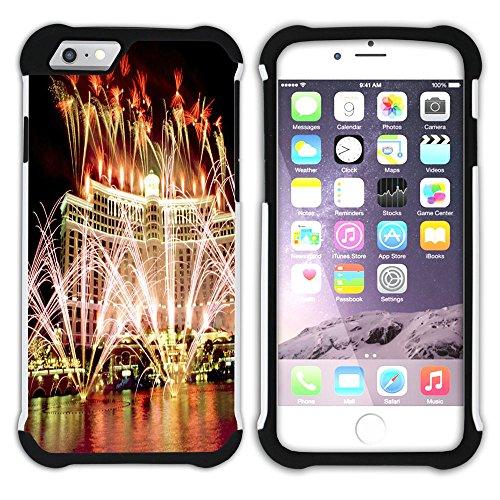 Graphic4You Las Vegas USA United States of America Postkarte Aussicht Hart + Weiche Kratzfeste Hülle Case Schale Tasche Schutzhülle für Apple iPhone 6 Plus / 6S Plus Design #13