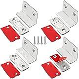 Jiayi Magneetsluiter, 4 stuks, ultradun, L-vormige deurmagneten, zelfklevend, voor meubels, kastmagneten, sterke magneetsluit