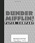 Wide Ruled Line Dot Paper: Dunder Mifflin Paper Company Book (Weezag Wide Ruled Dot Paper Notebook)