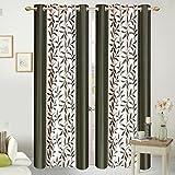ShopGalore 4 Piece Polyester Door Curtai...