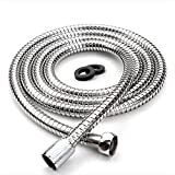 Labkiss LK021 1.8m Leakproof Anti-Explosion Flexible Stainless Steel Anti-Kink Shower Hose With Solid Brass Connector(5.9 Ft)(71 Inch)