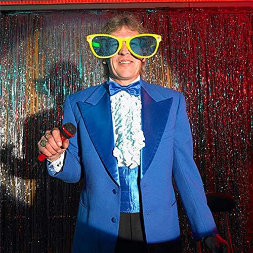 Partei Kostüm Bald Auch - Unbekannt 4 Stück Neueste Große Gläser Partei Kunststoff Gläser Partei Requisiten Weihnachten Geburtstag Halloween Party Dekoration Supplies Glühen Gläser