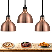 Lampe Chauffante 250W, Télescopique Lampe Infrarouge Lampe Cuisine Lustre pour Buffet Chauffant, Commercial Lampe de…