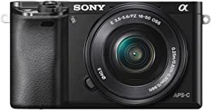 Sony Alpha 6000 Systemkamera (24 Megapixel, 7,6 cm (3) LCD-Display, Exmor APS-C Sensor, Full-HD, High Speed Hybrid AF) inkl. SEL-P1650 Objektiv schwarz