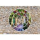 Fototapete Fenster nach Toscana 396 x 280 cm Vlies Wand Tapete Wohnzimmer Schlafzimmer Büro Flur Dekoration Wandbilder XXL Moderne Wanddeko - 100% MADE IN GERMANY - Runa Tapeten 9056012b