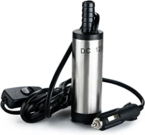 Chuckchi Tauchpumpe Gleichstrom 12 V 38 Mm Übertragung Von Wasser Öl Diesel Kraftstoff Zigarettenanzünder Stecker Baumarkt