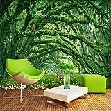 Zxdcd Nature Fonds D'Écran 3D Forêt Paysage Photo Peintures Murales Arbres Verts Animaux Papiers Peints Décor À La Maison Salon Chambre Murales-200Cmx140Cm