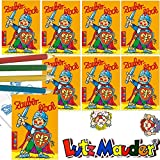 Lutz Mauder - 8 x Zauberblöckchen * Ritter * in DIN A8 Plus Buntstifte im Set | Zauberblock Mitgebsel für Kindergeburtstag | Mittelalter Schwert
