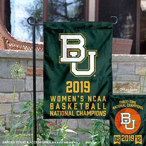 College Flags and Banners Co. Baylor Bears 2019 NCAA Damen Final Four Basketball Champions Garden Flag -