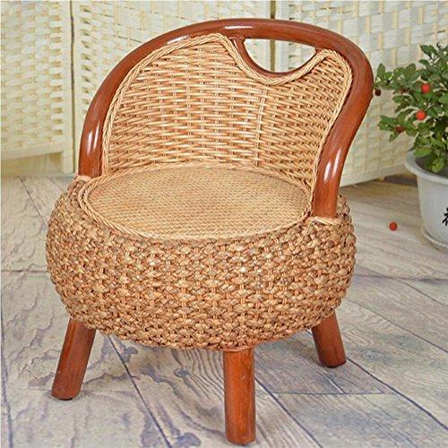 Kürbisgras handgewebter Rattansessel Wohnzimmermöbel Massivholzstühle wasserdicht Sonnenschutz Schimmel glatt und zart leicht zu reinigen