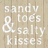 Paperproducts Design Design 1251994Hohe Qualität Getränk/Cocktail Sandy Toes & Salty Kisses Papier Servietten (20Stück), multicolor