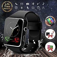 Reloj Inteligente Android Smartwatch con Bluetooth Fitness Tracker con ranura para SIM, reloj deportivo con Podómetro, Sueño, Calorías Samsung Sony Huawei Android para Hombres Mujeres