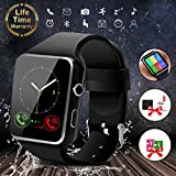 Smartwatch Android, Smart Watch con SIM Card Slot Fotocamera Orologio Fitness Sport, Cardiofrequenzimetro da Polso Contapassi Braccialetto Pedometro Smart Watch per Uomo Donna per Android e iOS