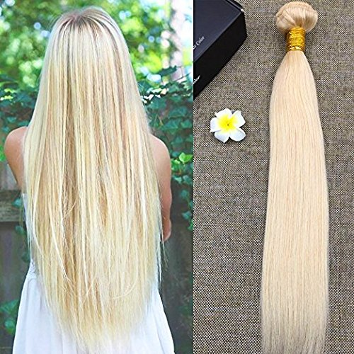 Full shine 100% veri extension tessitura matassa capelli biondo dorato brasiliani remy hair 16