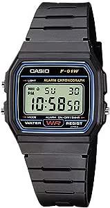 Casio Orologio Digitale al Quarzo Unisex-Adulto con Cinturino in Resina F-91W-1YER_P