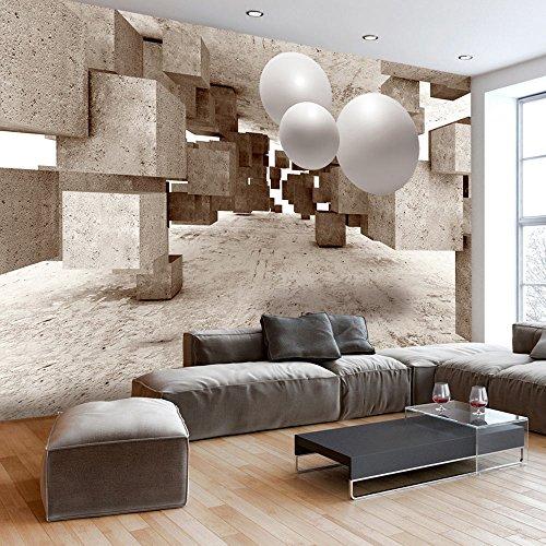 murando Papier peint intissé 300x210 cm Décoration Murale XXL Poster Tableaux Muraux Tapisserie Photo Trompe l'oeil Beton Abstraction a-C-0035-a-a