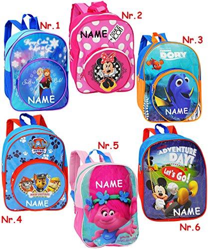 Rucksack -  Disney - Findet Nemo / Fisch Dory  - incl. Name - Tasche - wasserfest & beschichtet - Kinderrucksack / für Kinder - groß Kind - Mädchen - Jungen.. ()