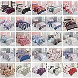 Bettwäsche Bettgarnitur Baumwolle Renforce mit Reißverschluss 5 Größen und vielen