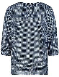 0a4f8cffa7 Olsen 11100227 40152 Damen Shirt mit grafischem Muster 3/4-Arm  Schonwaschgang, Groesse