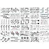 Temporäre Tattoos, Unisex, Tattoos, personalisierbar, 30 Blatt, selbstklebend, für Tattoos, wasserfest, künstliche Tattoos, für Gesicht, Körper, selbstklebend (Zeichentrick-Sterne) x 1