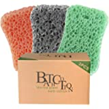Bath Sponge 3 Pack Shower Sponges for Cleaning Exfoliating Body Sponge