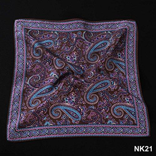Hisdern - Mouchoir - Homme Multicolore - Brown / Purple