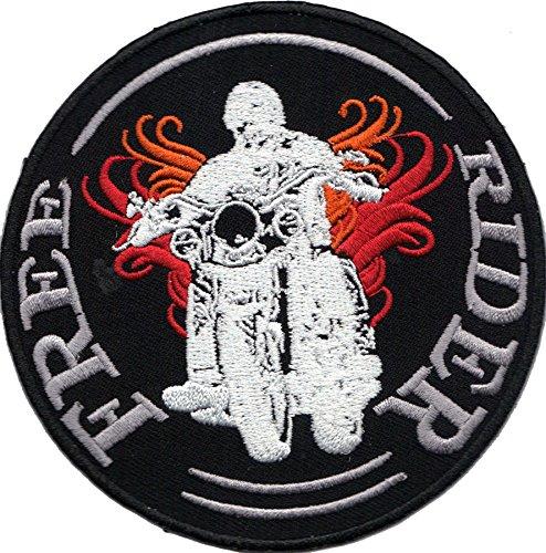 FREE RIDER Motorcycle Club Biker Motorrad Aufnäher Aufbügler Patch Abzeichen