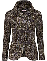 Joe Browns Women's Duffle Jacket With Thick Woven Textured Fabric and Toggle Fastening