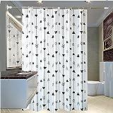 LFF-Duschvorhang LFF- Verdicken Sie Badezimmer-Wasserdichte Mehltau-Vorhang-Umweltschutz-geruchlose Toiletten-Trennungs-Vorhang-Bad-Vorhang (Größe : 150×200cm)