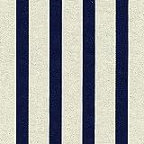 Gestreiften Stoff | Die anspruchsvollen Streifen - blau | Grundfarbe: Leinen | Stoffbreite: 155 cm (1 Meter (100 cm))