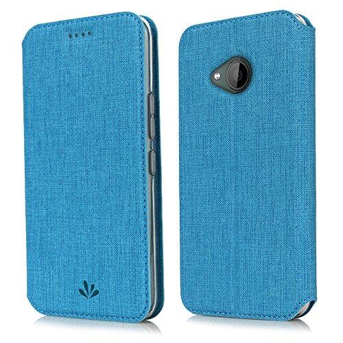 HTC U11 Life Hülle,Eactcoo Dünn Premium PU Leder klappbares Folio Flip Case Book TPU Cover Bumper Tasche Mit Standfunktion Magnetverschluss Kartenfach Wallet Handyhülle (U11 Life, Blue)