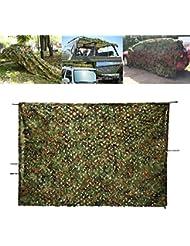 OUTERDO 2m x 3m Camouflage Netz Tarnnetz Camonet Woodland Tarnung Camo Für Waldlandschaft, flammenhemmend Jagd Armee Outdoor