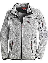 Stubai - Strick Fleecejacke Herren/Strickjacke mit Fleece Innenseite für Outdooraktivität, Strick Fleece Jacke mit Stehkragen und Reißverschluss (Größe: M - 3XL, in Mehreren Farben)