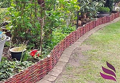 Beeteinfassung System 10 x Profil (20cm hoch) Palisade Rasenkante Weide Weidenzaun - imprägniert von Pemicont auf Du und dein Garten
