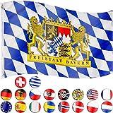 FLAGMASTER Bandiera della Nazione Calcio Baviera 120x80cm