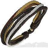 ZENSE Fashion multi color wrap rope adjustable leather bracelet ZB0036 for men