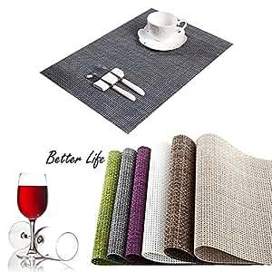 hameng sets de table isolation en pvc antid rapant tissage sets de table sets de table lavable. Black Bedroom Furniture Sets. Home Design Ideas