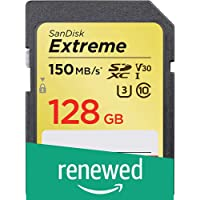 (Renewed) SanDisk 128GB Extreme SDXC UHS-I Card - C10, U3, V30, 4K UHD, SD Card - SDSDXV5-128G-GNCIN