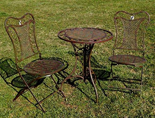Exklusive Sitzgruppe 'Eliza', Gartentisch mit 2 Stühlen, Gartengarnitur, sehr stabile...
