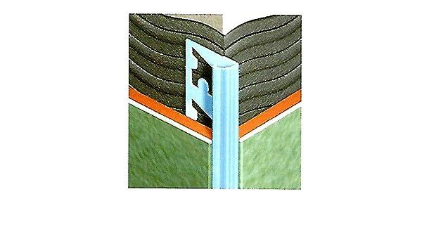 Profilo jolly per piastrelle in acciaio con bordi arrotondati