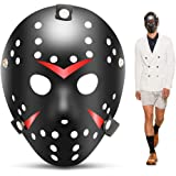 edealing 1 PCS Vintage Jason Voorhees Freddy Hockey Festival Masque De Fête De La Mascarade Halloween (BLACK)