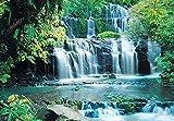 Fototapete PURA KAUNUI FALLS 368x254 cm Wasserfall Wald Kanui-Fälle Bäume Tropen