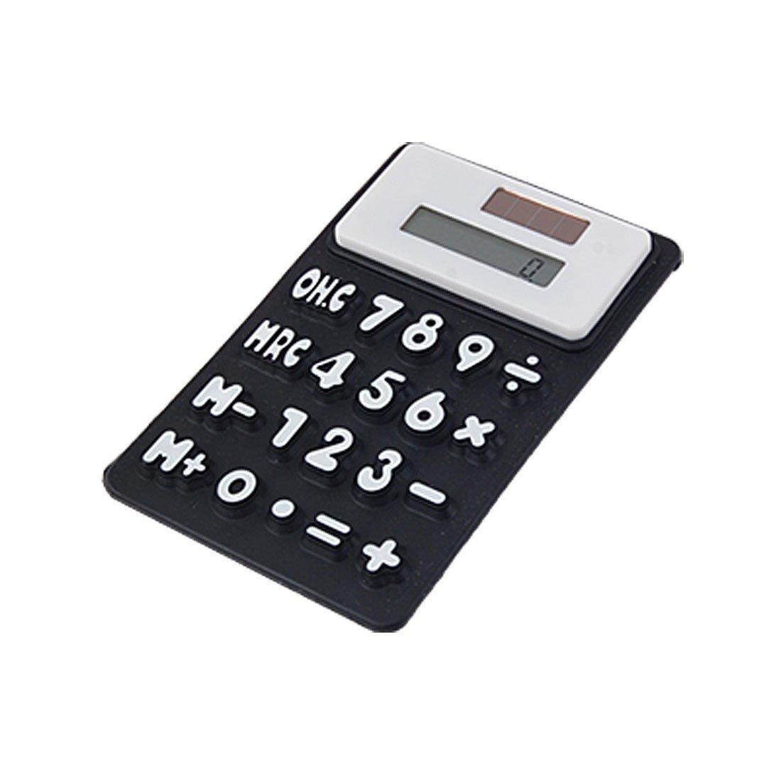 a11101800ux0265 silicone magnetico Frigo Sticker 8 cifre Calcolatrice, Nero / Bianco