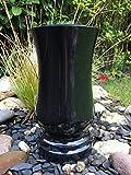 Grabvase aus Granit Granitvase Schwarz Friedhofsvase Vase 29cm x 15cm